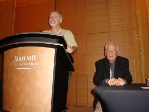 Tom and Dr. Frank Horvath presenting at the 2012 American Academy of Forensic Sciences Meetings In Atlanta, GA.