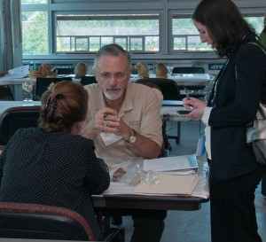 Tom Mauriello  during one of the hand-on  lab exercises.