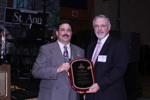 Thomas P. Mauriello, Recipient Of The Donald B. Woodbridge Award Presented by Tony Ingenito, NCMS President