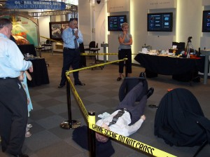 Murder at the Museum: A Crime Scene Investigation Program held at The National Academy of Science's Marian Koshland Museum in Washington DC on April 29, 2004