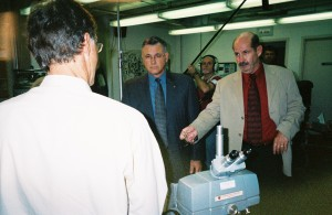 Tom and Tom Lange (LAPD) at the LA County Coroner's Office.