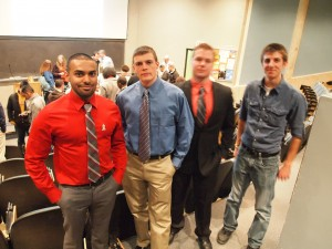 Student organizers and forensicweek.com team members (L to R): Sarosh Asadullah, Scott Koogle, Nathan Lenhart, and Mark Lombard